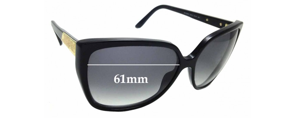 Sunglass Fix Replacement Lenses for Gucci GG 3180/S - 61mm wide