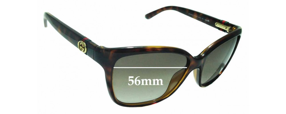 Sunglass Fix Replacement Lenses for Gucci GG3645/S - 56mm Wide