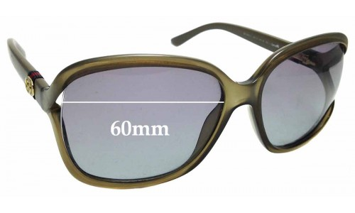 Sunglass Fix Replacement Lenses for Gucci GG 3646/S - 60mm wide