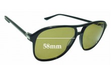 Sunglass Fix Replacement Lenses for Gucci GG 0016S - 58mm wide