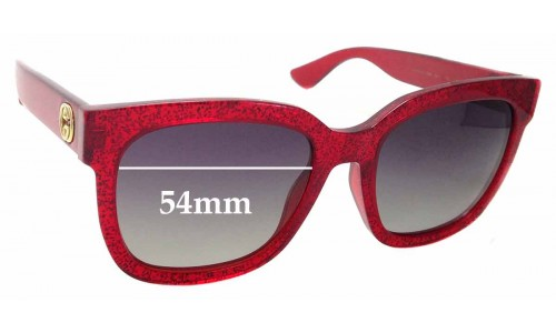 Sunglass Fix Replacement Lenses for Gucci GG0034S - 54mm wide