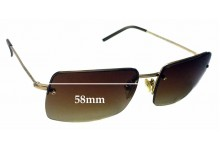 Gucci GG 1653/S Replacement Sunglass Lenses - 58mm wide
