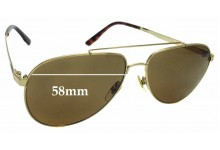 Sunglass Fix Replacement Lenses for Gucci GG 1912/S - 58mm wide