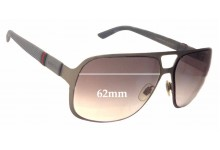 Gucci GG2253/S Replacement Sunglass Lenses - 62mm Wide