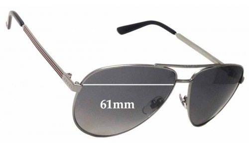 Gucci GG2281/S Replacement Sunglass Lenses - 61mm Wide
