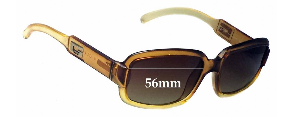 Gucci GG2475/S Replacement Sunglass Lenses - 56mm wide