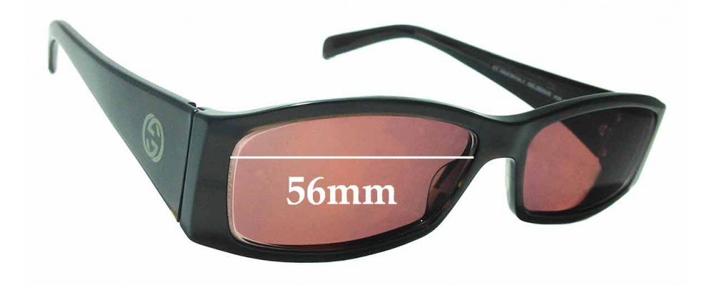 Sunglass Fix Replacement Lenses for Gucci GG2523/S - 56mm wide
