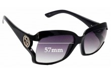 Sunglass Fix Replacement Lenses for Gucci GG2598/S - 57mm Wide