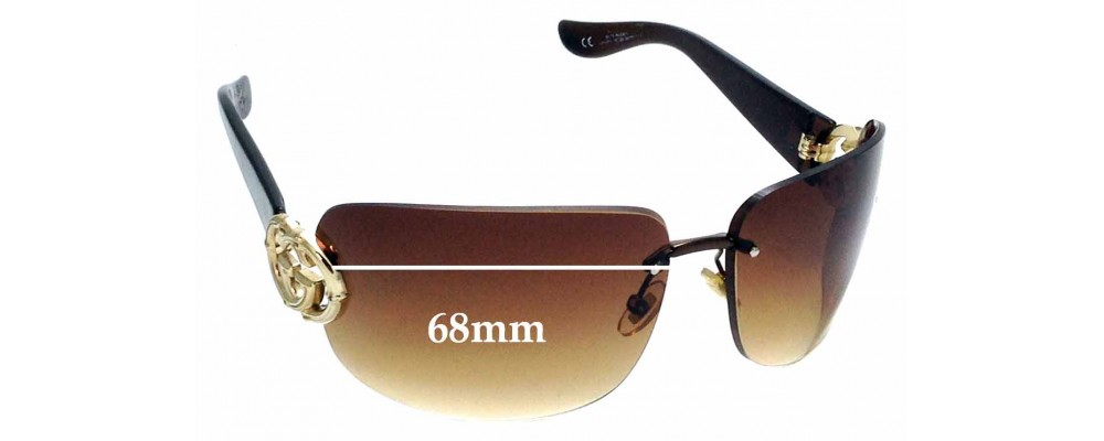 Sunglass Fix Replacement Lenses for Gucci GG2833/S - 68mm wide