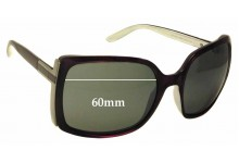 Gucci 3128/S Replacement Sunglass Lenses - 60mm wide