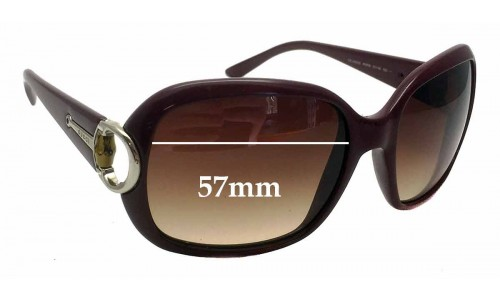 Gucci 3132/S Replacement Sunglass Lenses - 57mm wide
