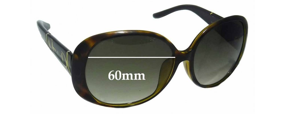 Gucci GG3550/K/S Replacement Sunglass Lenses - 60mm wide