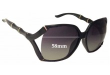 Gucci GG3508/S Replacement Sunglass Lenses - 58mm Wide