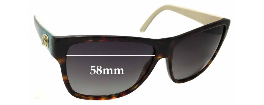 Sunglass Fix Replacement Lenses for Gucci GG 3579/S - 58mm wide