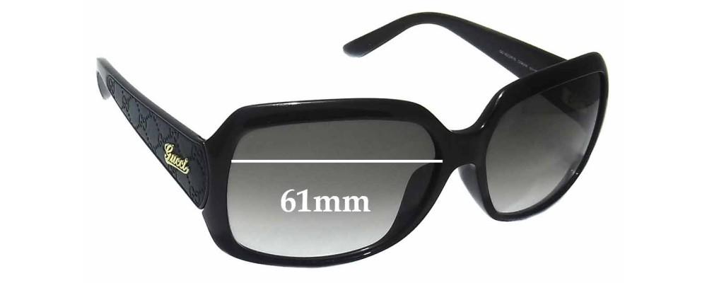 Gucci GG 3622/F/S Replacement Sunglass Lenses - 61mm wide