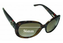 Gucci GG3644/S Replacement Sunglass Lenses - 56mm Wide