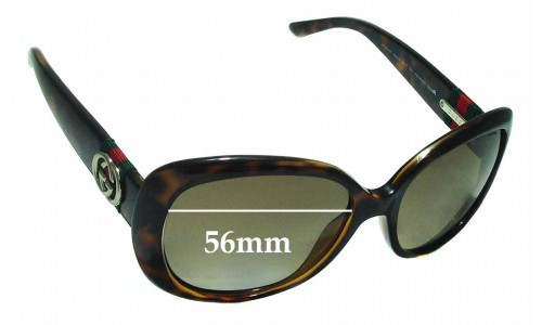 Sunglass Fix Replacement Lenses for Gucci GG3644/S - 56mm Wide