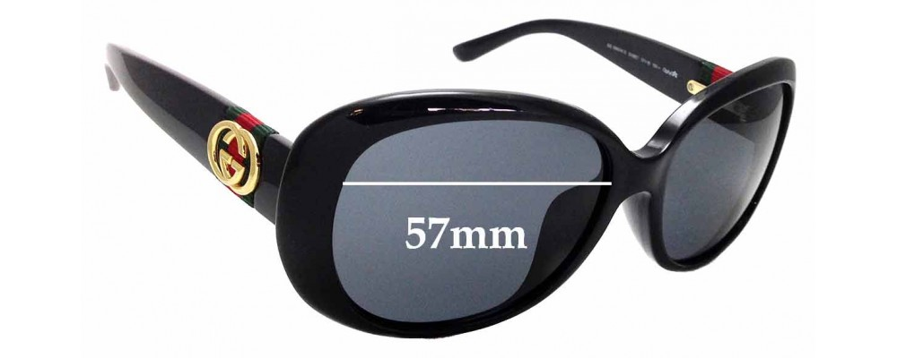 Sunglass Fix Replacement Lenses for Gucci GG 3660/K/S - 57mm Wide