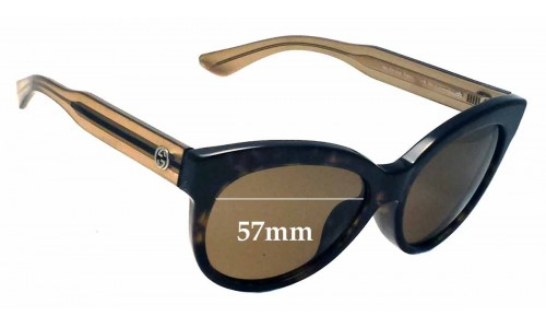 Gucci GG 3757/F/S Replacement Sunglass Lenses - 57mm wide