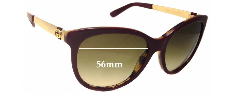 Gucci GG3784/S Replacement Sunglass Lenses - 56mm wide