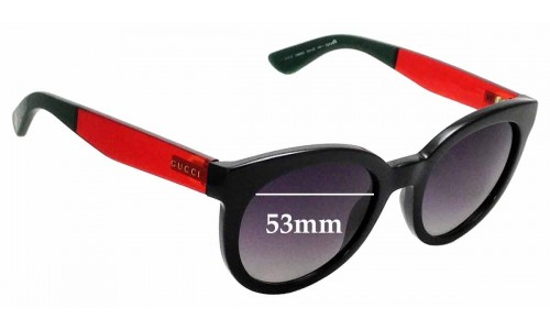 Sunglass Fix Replacement Lenses for Gucci GG3810/S 53mm wide