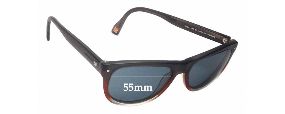 f7cea7f6d0 Hugo Boss Orange BO Sun Rx 09 Replacement Sunglass Lenses - 55mm wide
