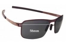 IC! Berlin Black Body Replacement Sunglass Lenses - 58mm wide