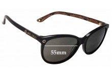 Jimmy Choo Lily/S Replacement Sunglass Lenses - 55mm wide
