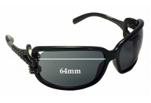 Jimmy Choo Mini JJ-Strass Replacement Sunglass Lenses - 64mm wide