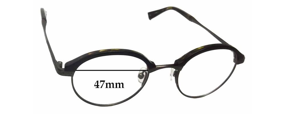 John Varvatos V152 Replacement Sunglass Lenses - 47mm wide