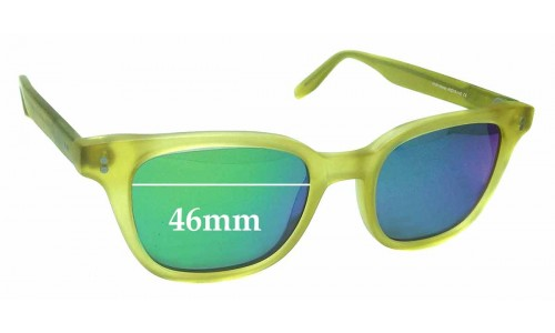 Joseph Marc 4149 Replacement Sunglass Lenses - 46mm Wide