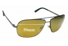 Sunglass Fix Replacement Lenses for Juicy Couture Bowie-S - 59mm wide