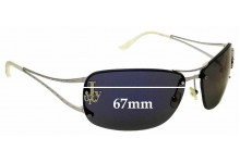 Sunglass Fix Replacement Lenses for Juicy Couture So Free-s -  67mm wide