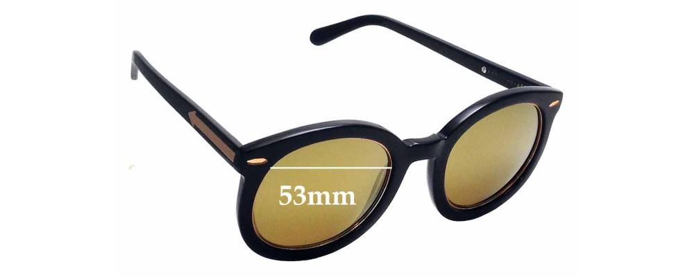 e00321e89a3 Sunglass Fix Replacement Lenses for Karen Walker Super Duper Superstars -  53mm Wide