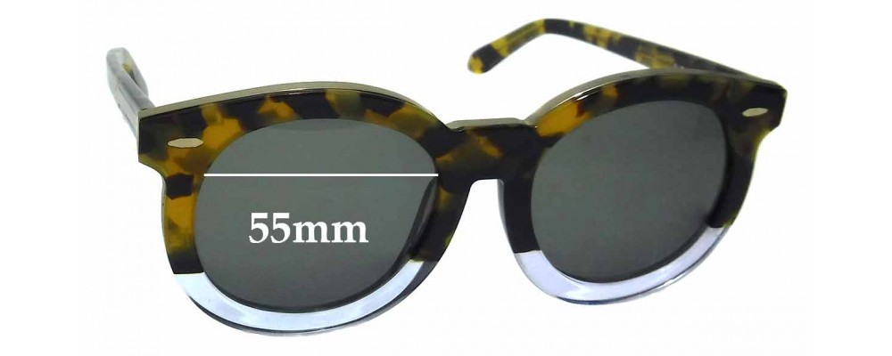 Karen Walker Super Duper Thistle Replacement Sunglass Lenses 55mm Wide