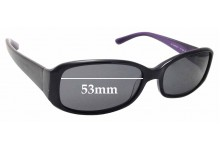 Sunglass Fix Replacement Lenses for Kate Spade Paxton/S - 53mm wide