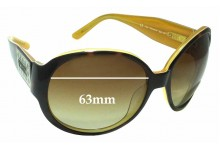 Kate Spade Harper/S Replacement Sunglass Lenses - 63mm wide