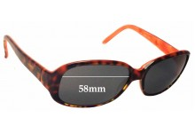 Kate Spade Vita/S Replacement Sunglass Lenses - 58mm wide