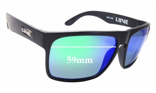 Sunglass Fix Replacement Lenses for LIIVE Voyager - 59mm wide