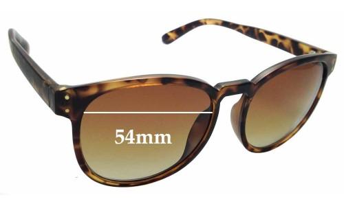 Sunglass Fix Replacement Lenses for Locello 342E - 54mm wide
