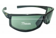 Sunglass Fix Replacement Lenses for Louis Vuitton Cup M80659- 75mm wide