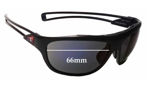Louis Vuitton Cup Z0477U Replacement Sunglass Lenses - 66mm wide
