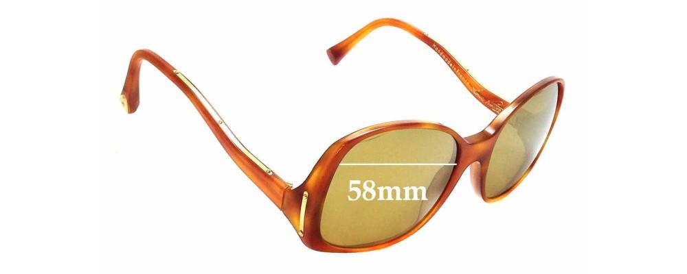 38d9fbc543 Sunglass Fix Replacement Lenses for Louis Vuitton Gina Z0053WN - 58mm wide