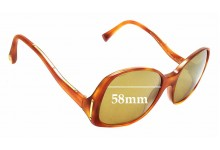 Sunglass Fix Replacement Lenses for Louis Vuitton Gina Z0053WN - 58mm wide