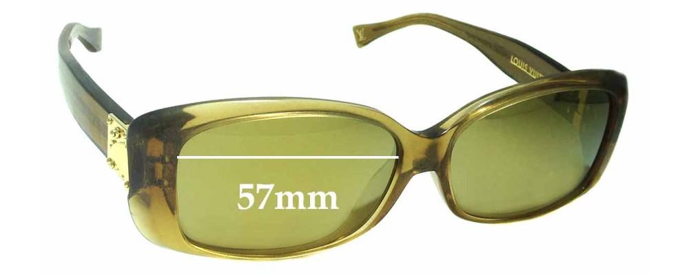 9b65ea1bdd4 Louis Vuitton Z0003E Replacement Sunglass Lenses - 57mm wide