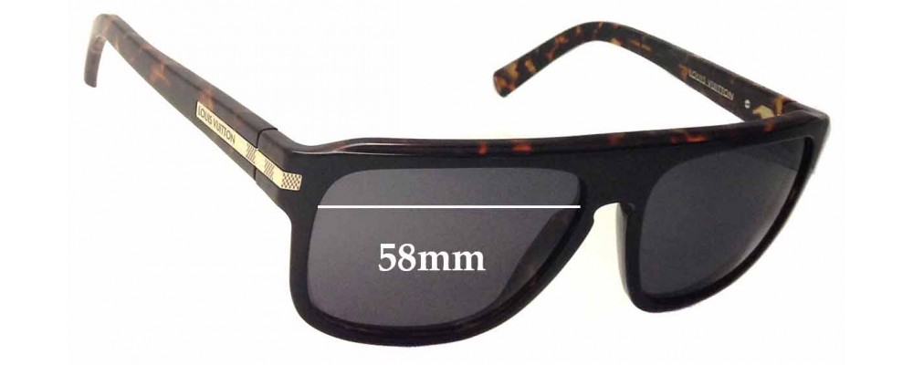 04083d1a28 Louis Vuitton Z0603W Replacement Sunglass Lenses - 58mm wide