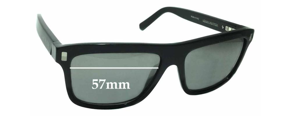 ed08f8dc50 Louis Vuitton Z0698W Replacement Sunglass Lenses - 57mm wide