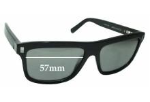 Louis Vuitton Z0698W Replacement Sunglass Lenses - 57mm wide