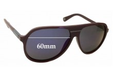 MARC BY MARC JACOBS Aviator Replacement Sunglass Lenses - 60mm Wide x 52mm Tall