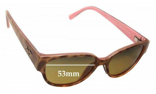 Maui Jim Anini Beach MJ269 Replacement Sunglass Lenses - 53mm wide